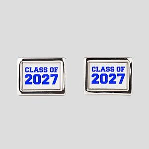 CLASS OF 2027-Fre blue 300 Rectangular Cufflinks