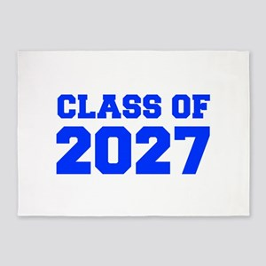 CLASS OF 2027-Fre blue 300 5'x7'Area Rug