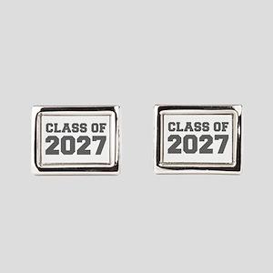 CLASS OF 2027-Fre gray 300 Rectangular Cufflinks