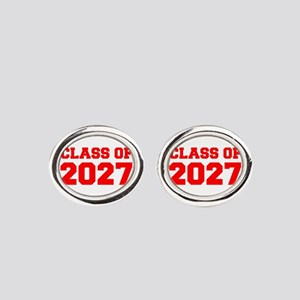 CLASS OF 2027-Fre red 300 Oval Cufflinks