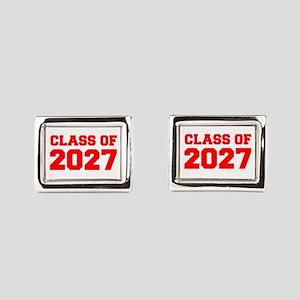 CLASS OF 2027-Fre red 300 Rectangular Cufflinks