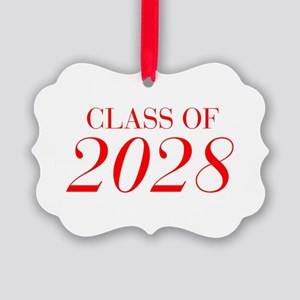 CLASS OF 2028-Bau red 501 Ornament