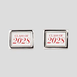 CLASS OF 2028-Bau red 501 Rectangular Cufflinks