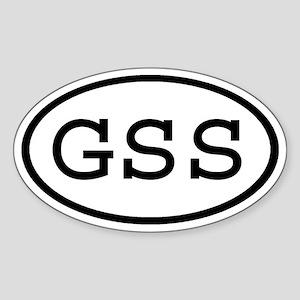 GSS Oval Oval Sticker
