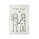 True Love Rectangle Magnet (100 pack)