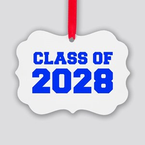 CLASS OF 2028-Fre blue 300 Ornament