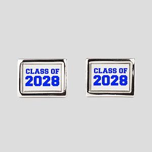 CLASS OF 2028-Fre blue 300 Rectangular Cufflinks