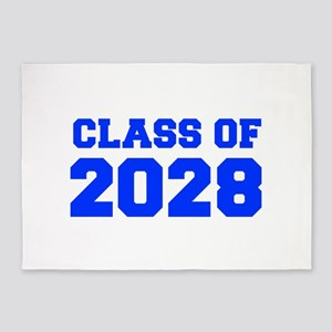 CLASS OF 2028-Fre blue 300 5'x7'Area Rug