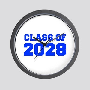CLASS OF 2028-Fre blue 300 Wall Clock