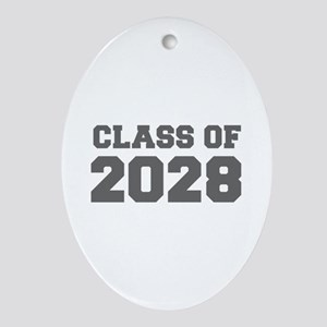 CLASS OF 2028-Fre gray 300 Ornament (Oval)