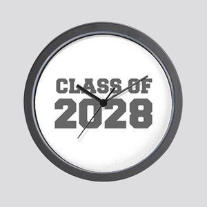 CLASS OF 2028-Fre gray 300 Wall Clock