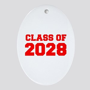 CLASS OF 2028-Fre red 300 Ornament (Oval)