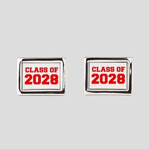 CLASS OF 2028-Fre red 300 Rectangular Cufflinks