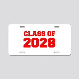 CLASS OF 2028-Fre red 300 Aluminum License Plate