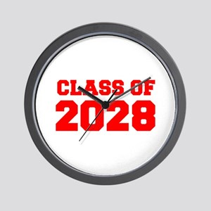 CLASS OF 2028-Fre red 300 Wall Clock