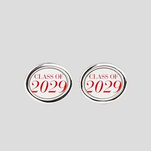 CLASS OF 2029-Bau red 501 Oval Cufflinks