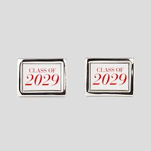 CLASS OF 2029-Bau red 501 Rectangular Cufflinks