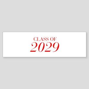 CLASS OF 2029-Bau red 501 Bumper Sticker