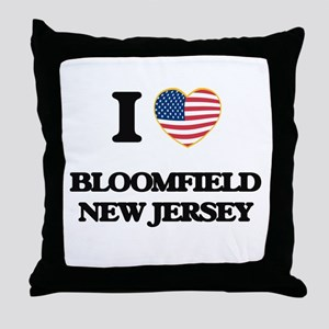 I love Bloomfield New Jersey Throw Pillow
