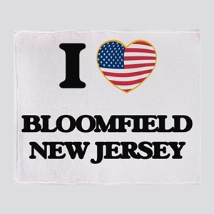 I love Bloomfield New Jersey Throw Blanket