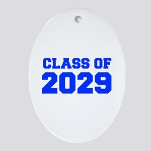CLASS OF 2029-Fre blue 300 Ornament (Oval)