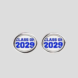 CLASS OF 2029-Fre blue 300 Oval Cufflinks