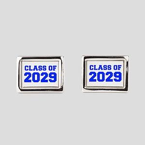CLASS OF 2029-Fre blue 300 Rectangular Cufflinks