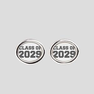 CLASS OF 2029-Fre gray 300 Oval Cufflinks