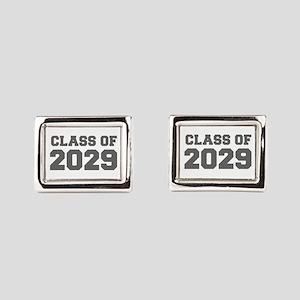 CLASS OF 2029-Fre gray 300 Rectangular Cufflinks