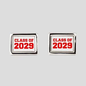 CLASS OF 2029-Fre red 300 Rectangular Cufflinks