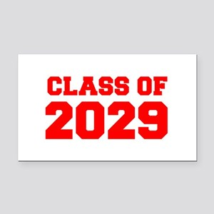 CLASS OF 2029-Fre red 300 Rectangle Car Magnet