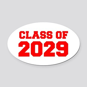 CLASS OF 2029-Fre red 300 Oval Car Magnet