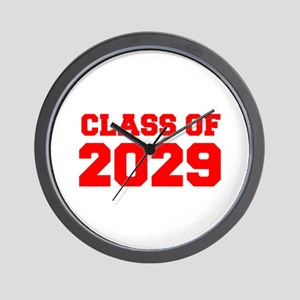 CLASS OF 2029-Fre red 300 Wall Clock