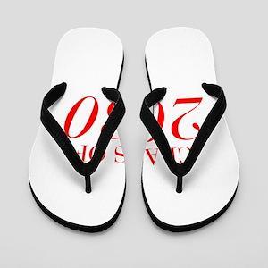 CLASS OF 2030-Bau red 501 Flip Flops