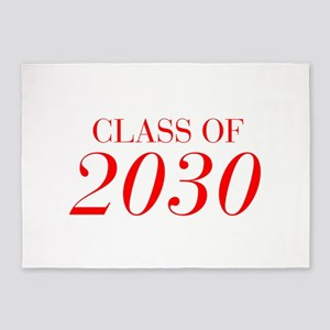 CLASS OF 2030-Bau red 501 5'x7'Area Rug