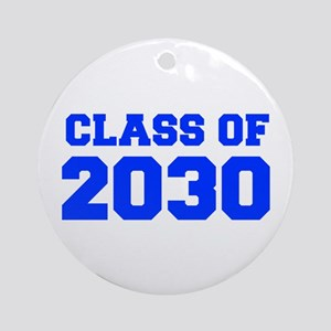 CLASS OF 2030-Fre blue 300 Ornament (Round)