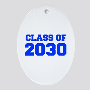 CLASS OF 2030-Fre blue 300 Ornament (Oval)