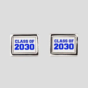 CLASS OF 2030-Fre blue 300 Rectangular Cufflinks