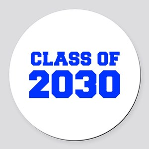 CLASS OF 2030-Fre blue 300 Round Car Magnet