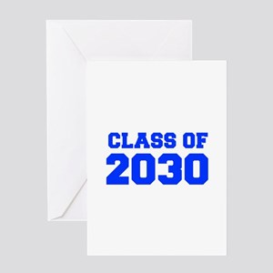 CLASS OF 2030-Fre blue 300 Greeting Cards