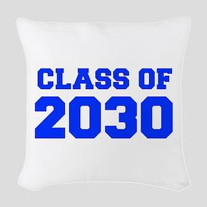 CLASS OF 2030-Fre blue 300 Woven Throw Pillow