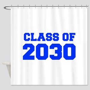 CLASS OF 2030-Fre blue 300 Shower Curtain