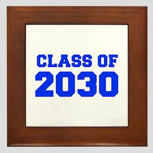 CLASS OF 2030-Fre blue 300 Framed Tile