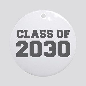 CLASS OF 2030-Fre gray 300 Ornament (Round)