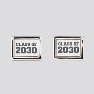 CLASS OF 2030-Fre gray 300 Rectangular Cufflinks