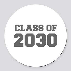 CLASS OF 2030-Fre gray 300 Round Car Magnet