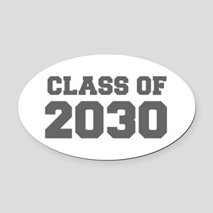 CLASS OF 2030-Fre gray 300 Oval Car Magnet
