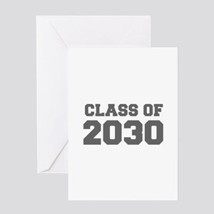 CLASS OF 2030-Fre gray 300 Greeting Cards