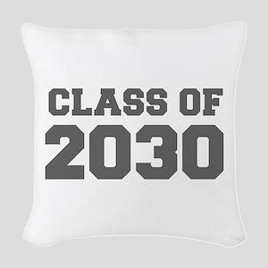 CLASS OF 2030-Fre gray 300 Woven Throw Pillow
