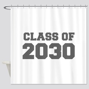 CLASS OF 2030-Fre gray 300 Shower Curtain